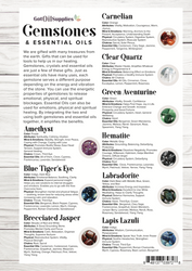 Gemstones and Essential Oils Resource Card