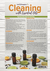 Cleaning With Essential Oils Resource Card