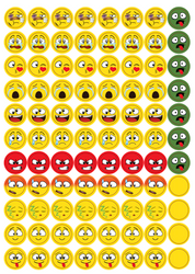 Emoji Lid Stickers | Essential Oil Cap Labels