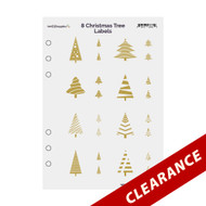8 Gold Foil Christmas Tree Labels