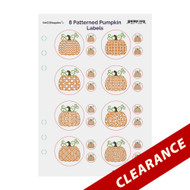 8 Patterned Pumpkins Essential Oil Labels With Lid Stickers | Red lines will not appear on the actual label sheets