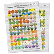 dōTERRA® Illustrated Essential Oil Lid Sticker Sheets