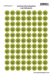Lemon Eucalyptus dōTERRA® Essential Oil Cap Stickers