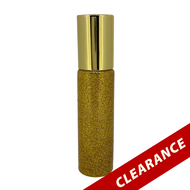 Gold Glitter Essential Oil 10ml Roller Bottles With Stainless Steel Metal Roll On Inserts