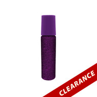 Purple Glitter Essential Oil 10ml Roller Bottles With Stainless Steel Metal Roll On Inserts
