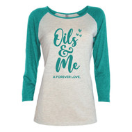 Oils & Me A Forever Love Three Quarter Sleeve Tee Shirt For Women