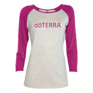dōTERRA® Ladies ¾ Sleeve Raglan T-Shirt | Hot Pink