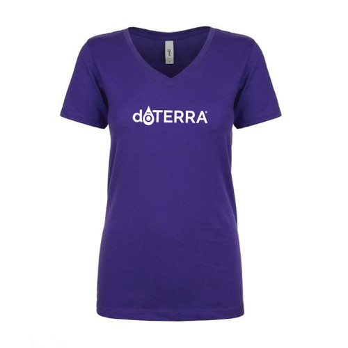 dōTERRA® Logo Purple V-Neck Women's Shirt