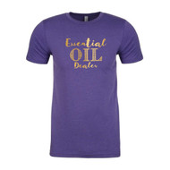 Essential Oil Dealer Purple T-Shirt | Gold Foil Lettering