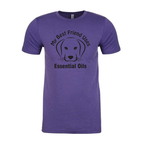 My Best Friend Uses Essential Oils Purple Dog T-Shirt