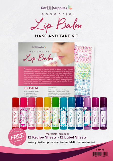 Essential Oil Lip Balm Make And Take Workshop Kit
