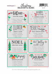 Christmas Essential Oil Roller Bottle Blends Recipe Sheets
