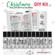 Christmas Essential Oil Roller Bottle Blends DIY Kit