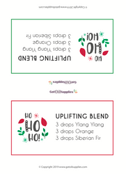 Christmas Essential Oil Roller Bottle Blends Recipe Tent Cards | Digital Download