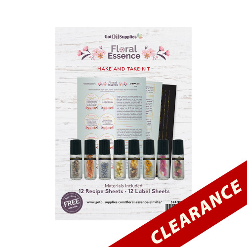 Floral Essence Essential Oil Make and Take Kit | Dried Flower Collection
