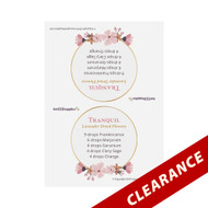 Floral Essence Recipe Tent Cards | Digital Download