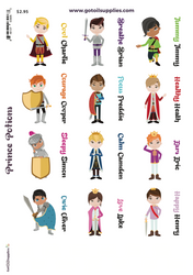 Prince Potion Label Sheets | Essential Oil Proof Labels For Kids