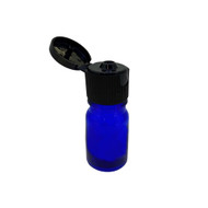 5ml Cobalt Blue Glass Essential Oil Bottles with Black Flip Caps