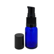 15ml Cobalt Blue Glass Essential Oil Bottles with Cream Pumps