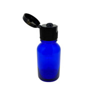 15ml Cobalt Blue Glass Essential Oil Bottles with Black Flip Caps