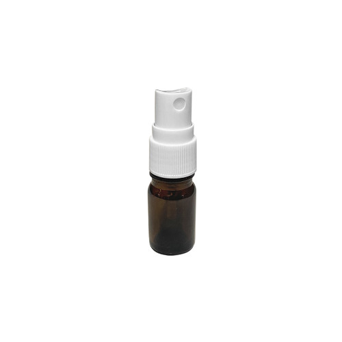 5ml Euro Style Amber Glass Essential Oil Bottles With White Spray Caps