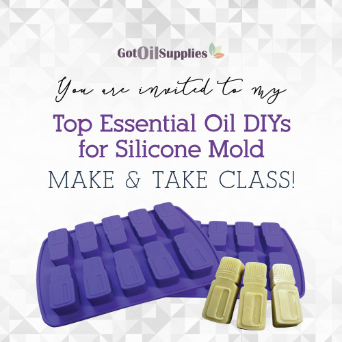 FREE Downloadable Top Essential Oil DIYs For Silicone Molds eInvite For Social Media and Email Campaigns