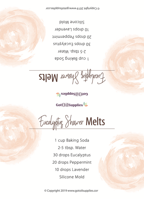 Top Essential Oil DIYs for Silicone Molds Recipe Tent Cards