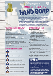 Homemade Essential Oil Foaming Hand Soap Resource Card