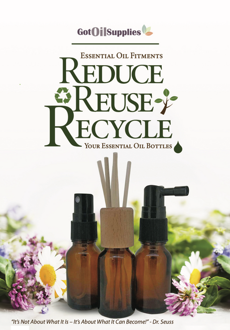 Essential Oil Fitments | Reduce, Reuse, Recycle Your Essential Oil Bottles Booklet