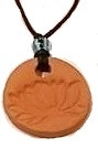 Round Lotus Terracotta Necklace