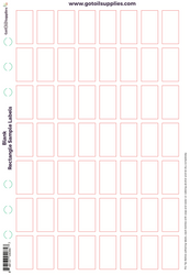 Blank Rectangle Sample Essential Oil Labels