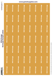 Wild Orange Rectangle Sample Preprinted Essential Oil Labels