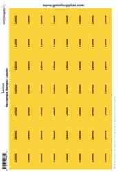 Lemon Rectangle Sample Preprinted Essential Oil Labels