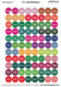 Young Living Assorted Essential Oil Lid Stickers G-N