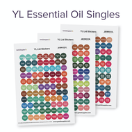YL Essential Oil Singles Lid Sticker Sheets