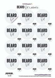 Beard Oil Essential Oil Label