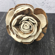 Rose Shaped Wooden Essential Oil Car Diffuser