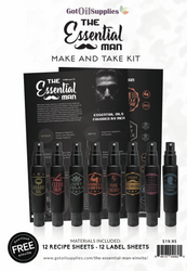 The Essential Man Make and Take Essential Oil Workshop Kit for Men