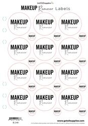 Makeup Remover Essential Oil Labels