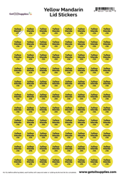 Yellow Mandarin dōTERRA® Essential Oil Cap Stickers