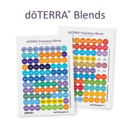 dōTERRA® Essential Oil Blends Cap Stickers | 2 Sheet Assortment