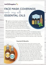 Face Mask Coverings Made Easy With Essential Oils Resource Card