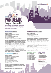 Pandemic Preparedness Kit Recipe Sheets