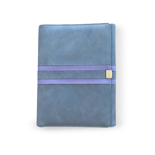 Gray and Purple Content Management System Notebook Binder For Essential Oils