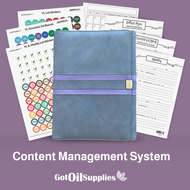 YL Gray and Purple Content Management System for Essential Oils