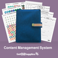 YL Navy Blue Content Management System for Essential Oils