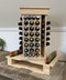 Rotating Wooden Essential Oil Display Spin Rack
