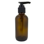 4oz or 60ml Amber Glass Lotion Pump Essential Oil Bottles