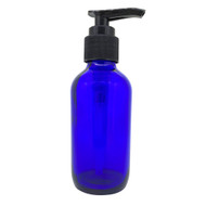 4oz or 60ml Blue Glass Lotion Pump Essential Oil Bottles