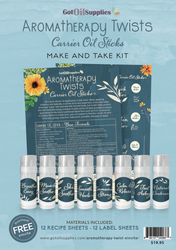 Aromatherapy Twists Carrier Oils Sticks Make and Take Kit